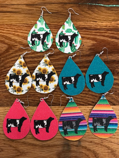 Shorthorn Canvas Earrings