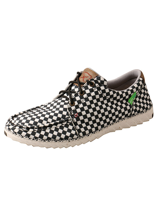 Twisted X Men's Zero-X Eco Shoes and Black and White Checkered  MZX0003