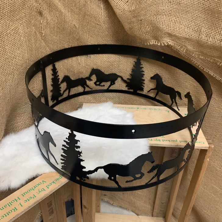 Running Horses and Pine Trees Chandelier