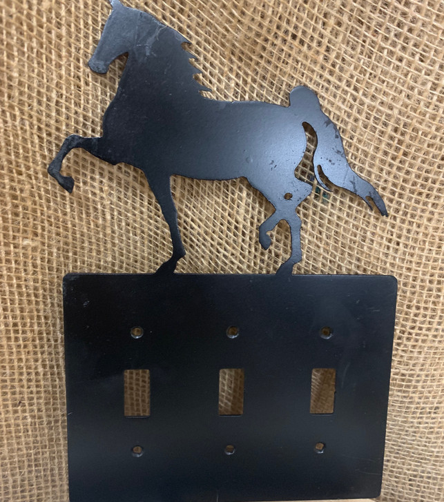 Arabian Horse Triple Switch Cover