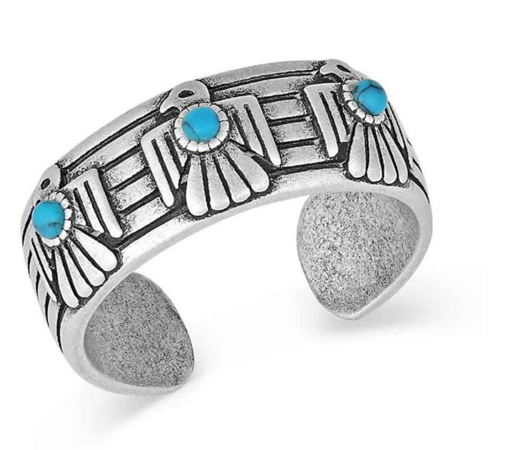 Montana Silversmiths  Rising Above Thunderbird Turquoise Ring RG4905