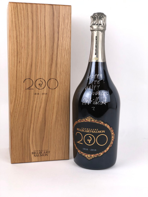 BILLECART-SALMON '200 ANNIVERSARY' BRUT CHAMPAGNE (AUTOGRAPHED) 1.5 LTR MAGNUM