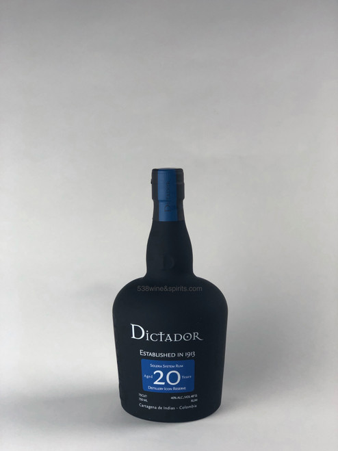 DICTADOR 20 YR RESERVE COLOMBIAN RUM