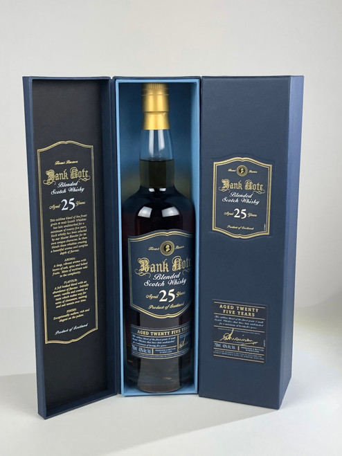 BANK NOTE 25 YR BLENDED SCOTCH WHISKY