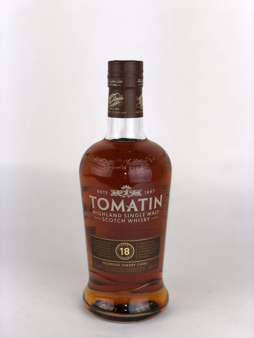 TOMATIN 18 YEARS-OLOROSO SHERRY CASKS-SINGLE MALT-HIGHLAND-SCOTCH WHISKY