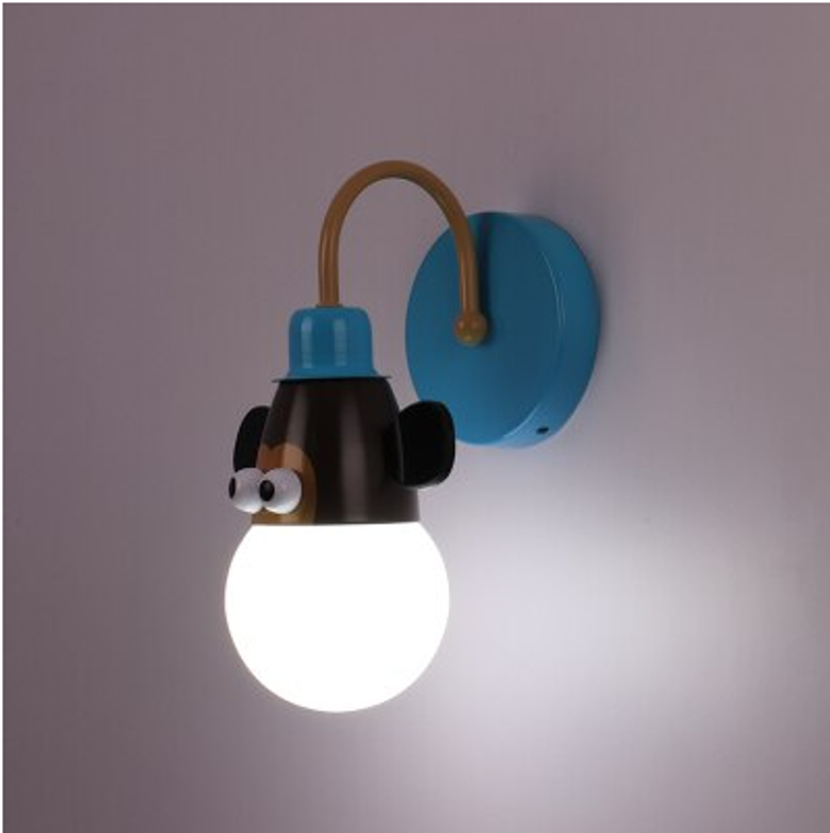 Kids Animal Wall Light - Monkey