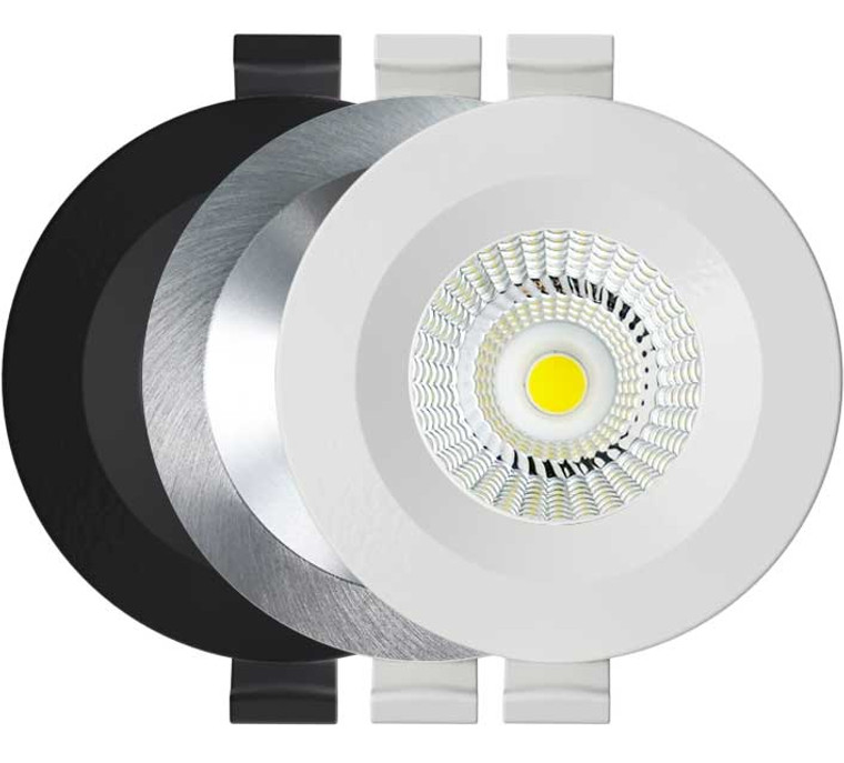Iris 2 20° Degree Focal LED Downlight 5k Studio - White, Black or Brushed Aluminium