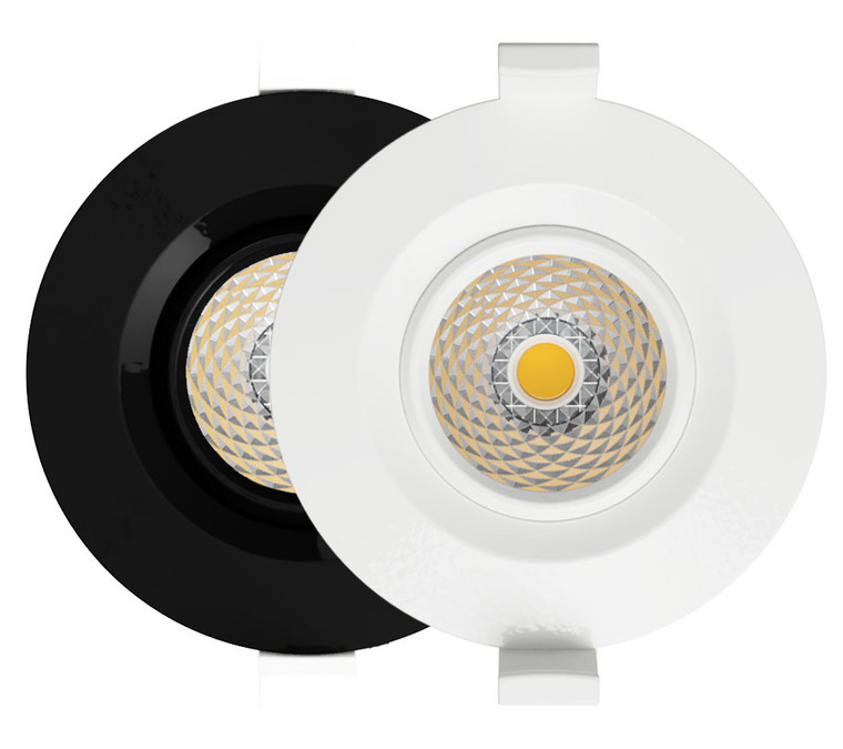 Iris Tilt Focal 60° LED Downlight 3k Studio - White or Black