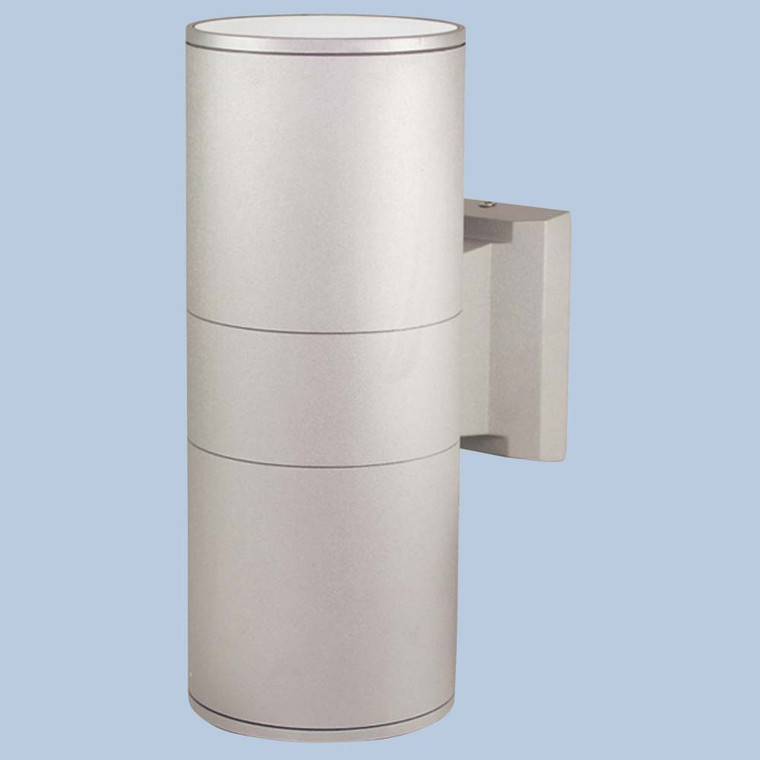 2 Way Outdoor Wall Light Silver