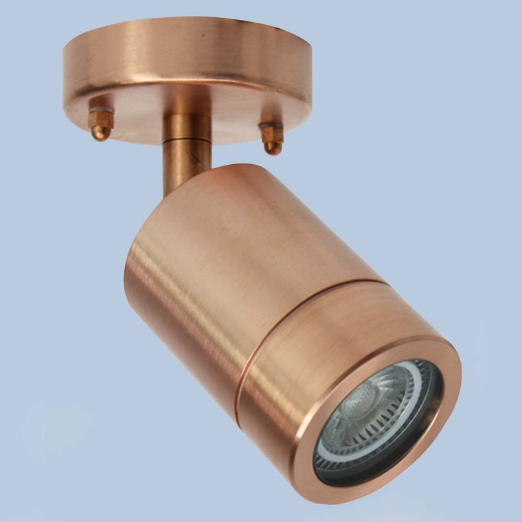 Single Spot Adjustable Raw Copper Wall Light