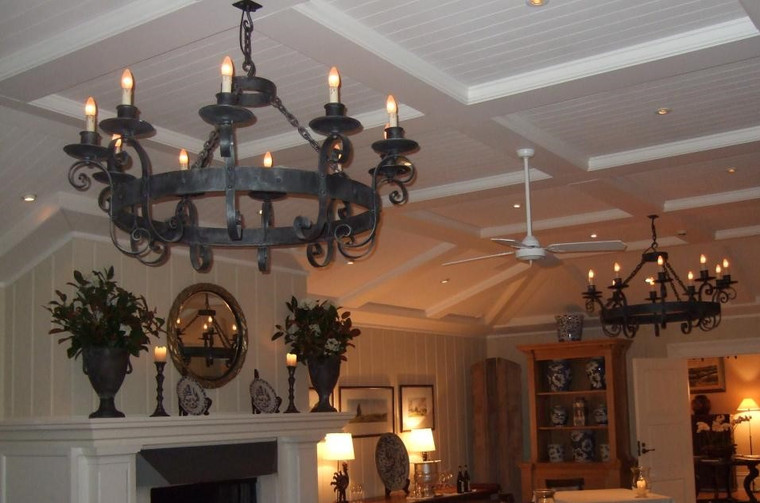 Traditional Circular Wrought Iron Chandelier