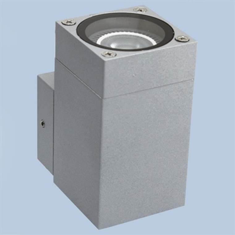Cube 1 Way Wall Washer Silver