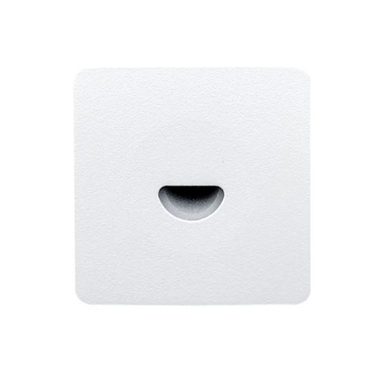 Pinhole Recessed Wall Light Square White