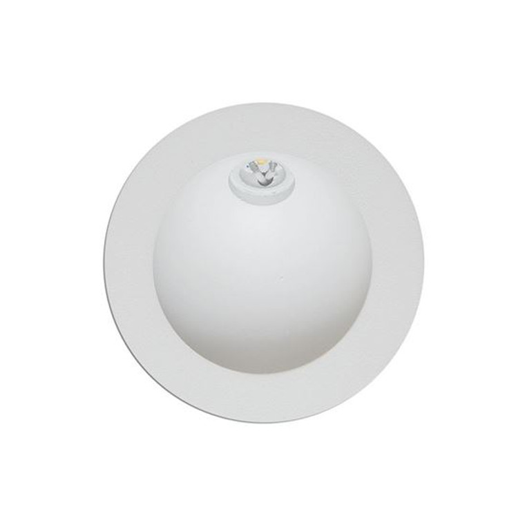 Recessed Round White Wall Light