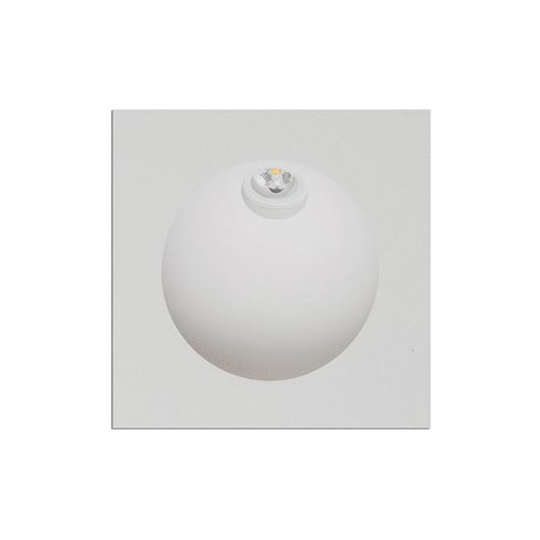 Recessed Square White Wall Light
