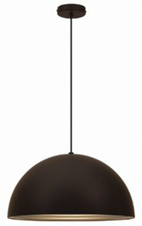 Corrugated Pendant Black (Large)