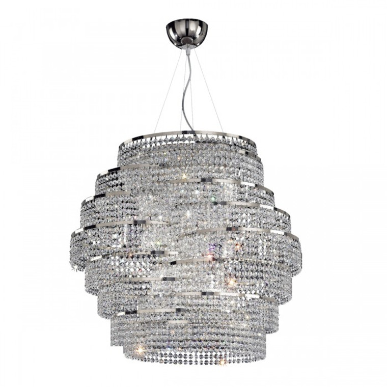 Contemporary DNA 6 Light Crystal Chandelier