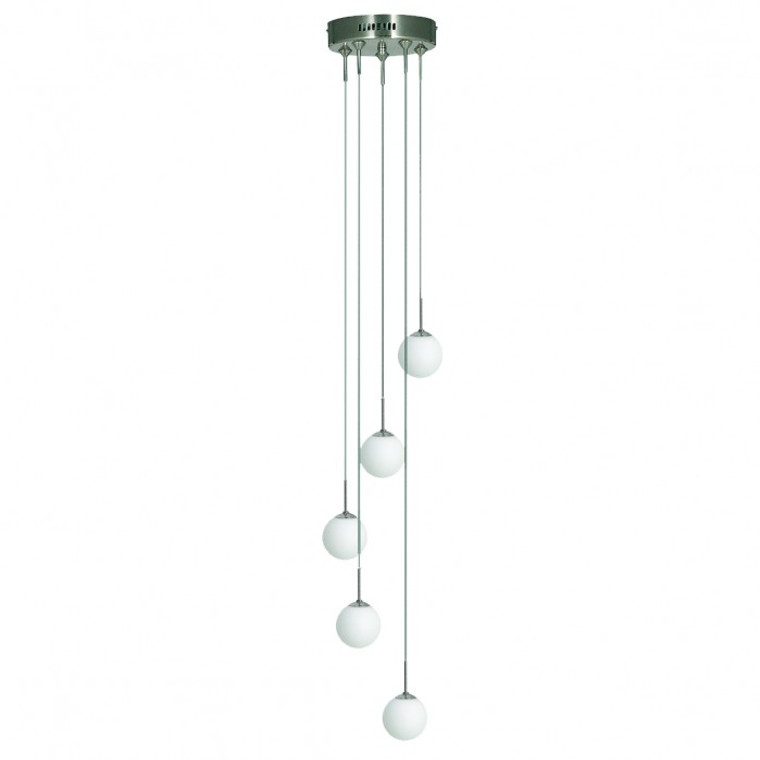 Art Deco 5 Light Drop Sphere Shade Pendant
