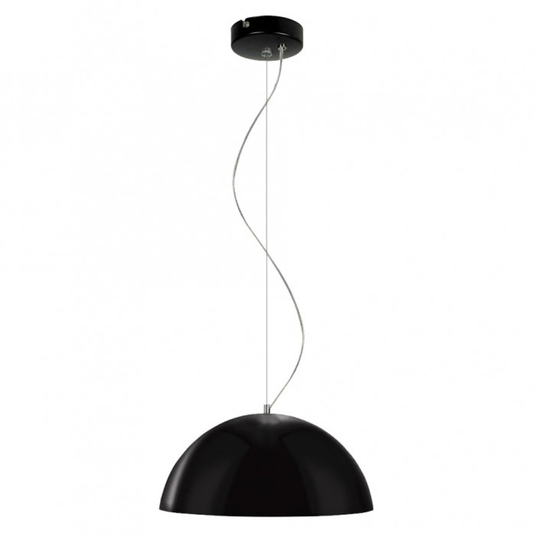 Small Retro Modern Shade Pendant - Black