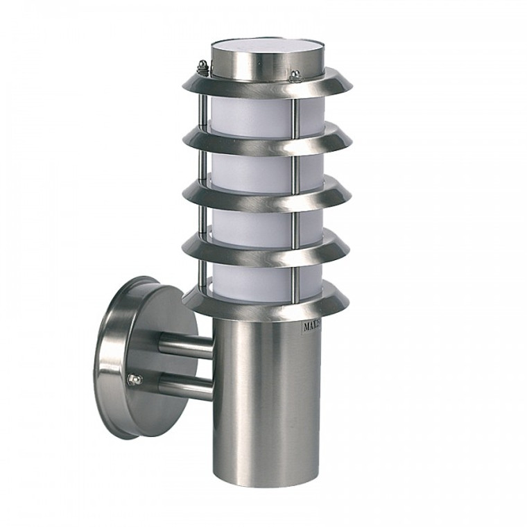 Brushed Stainless Steel Louvered Wall Lantern