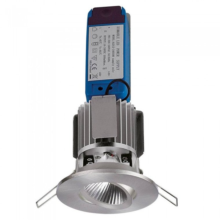 Tiltable Intergrated LED Reflector Downlight - Satin Chrome