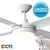 Airborne Enviro DC Motor 132cm White LED Light & Remote Ceiling Fan
