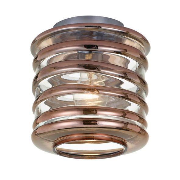 Telbix Vess DIY Ceiling Batten Fix Light Copper & Chrome