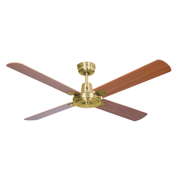 Mercator Swift 130cm Satin Brass Motor Timber Ceiling Fan