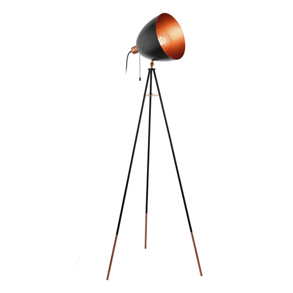 Eglo Chester Black & Copper Floor Lamp