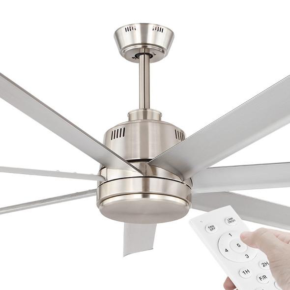 Eglo Tourbillion DC Motor 152cm Silver & Remote Ceiling Fan