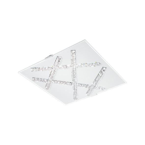 Eglo Sorrenta 9.7w LED Crystal Square Ceiling Light 3000K