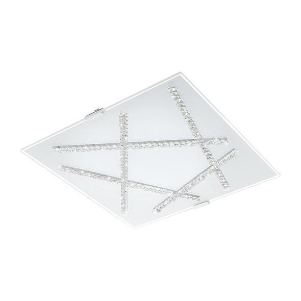 Eglo Sorrenta 16w LED Crystal Square Ceiling Light 3000K