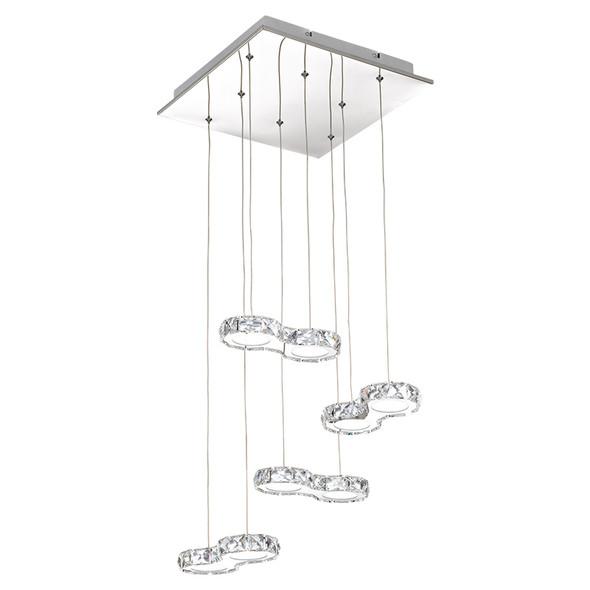 Eglo Corliano 8lt LED Crystal Hanging Pendant 4000K