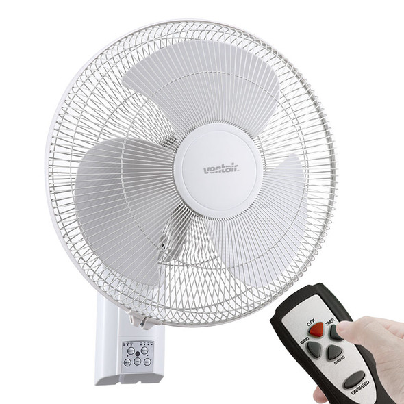 Ventair Zephyr II 40cm White Wall Fan With Remote