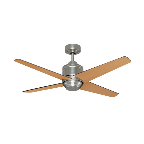 Mercator Pisa 130cm Nickel Motor Timber Blade Ceiling Fan