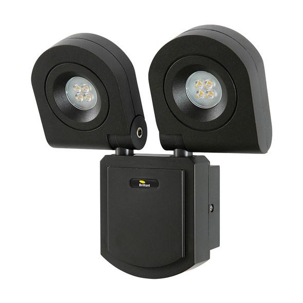Brilliant Arcolux 2 X 10w LED Exterior Spotlight Black