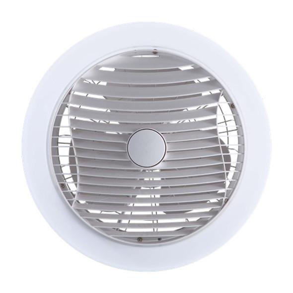 Ventair Manhattan White Enclosed Ceiling Fan & LED Light