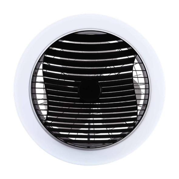 Ventair Manhattan Black Enclosed Ceiling Fan & LED Light