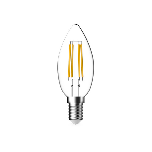 Atom 4.8w E14 LED DIMMABLE Clear Candle 2700K Warm White