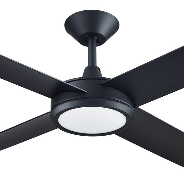 Hunter Pacific Concept 3 130cm Black Plastic Indoor/Outdoor Ceiling Fan & LED Light