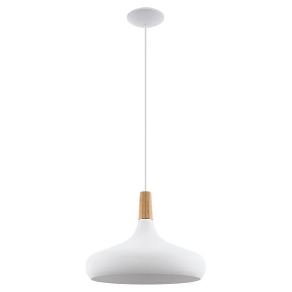 Eglo Sabinar Large Hanging Pendant White/Oak