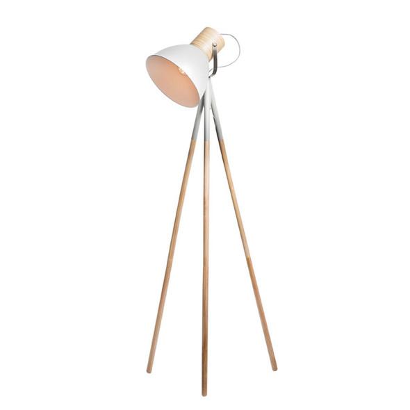 Mercator Calico Plywood Timber & Matt Stone Floor Lamp
