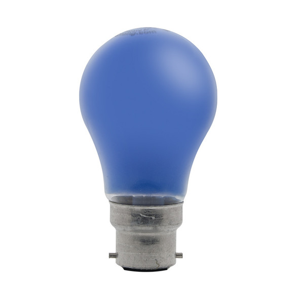 GE 25w B22 Incandescent  GLS Shape Blue Party