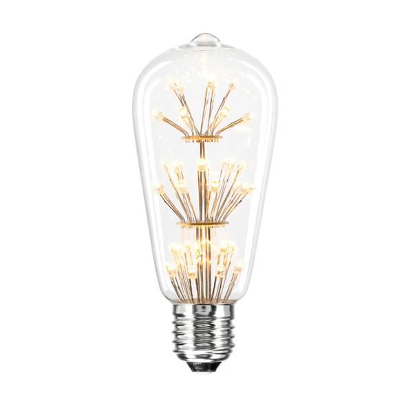 Brilliant Star Glow 3w E27 LED Vintage ST57 Pear Shape