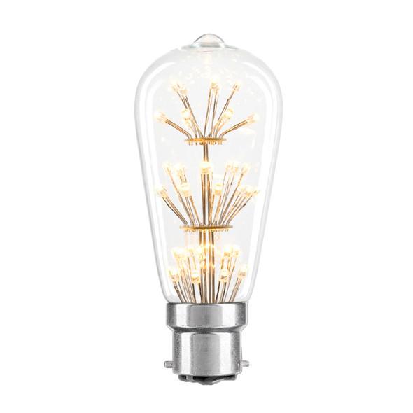 Brilliant Star Glow 3w B22 LED Vintage ST57 Pear Shape