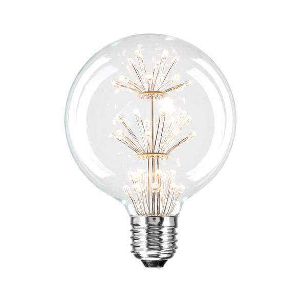 Brilliant Star Glow 3w E27 LED Vintage G95 Small Sphere Shape