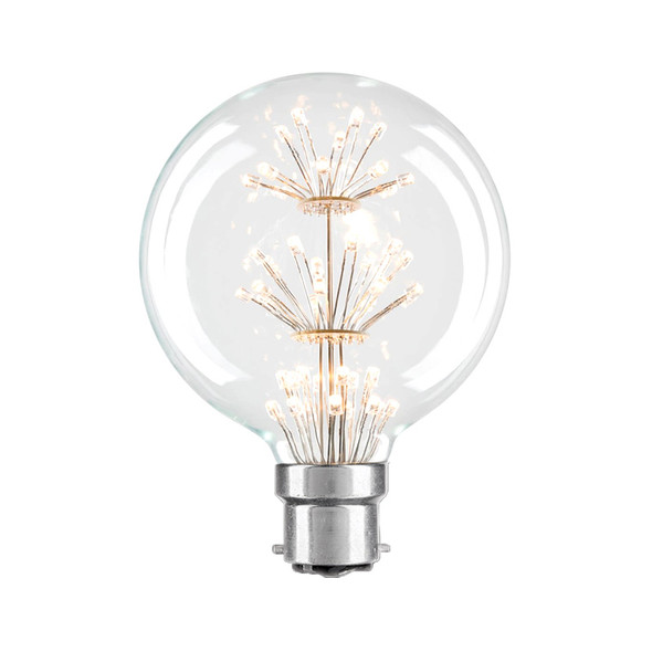 Brilliant Star Glow 3w B22 LED Vintage G95 Small Sphere Shape