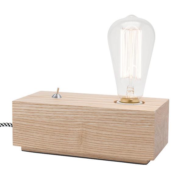 CLA Tesla-1 Natural Timber Table Lamp