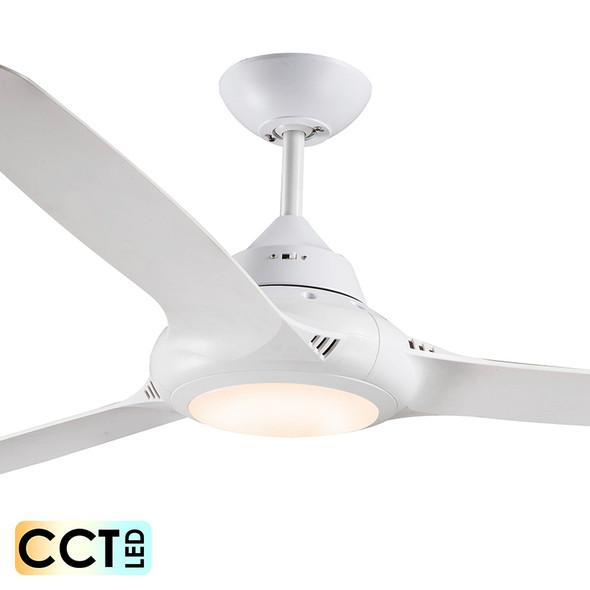 Deka EVO-2 147cm White Plastic Indoor/Outdoor Ceiling Fan & LED Light