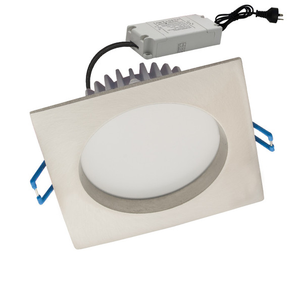 CLA GAL08A 10w 5000K Square LED Down Light Satin Chrome